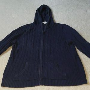 Navy blue zip hoodie jacket